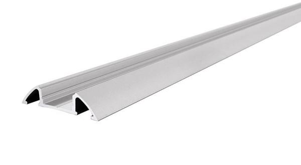 Reprofil Profil, Unterbau-Profil flach AM-01-10, Aluminium, Silber-matt eloxiert, 3000mm
