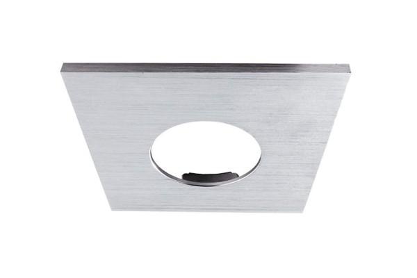 Deko-Light Zubehör, Abdeckung Silber gebürstet eckig für COB 68 IP65 + Mizar II, Aluminium, 83x83mm