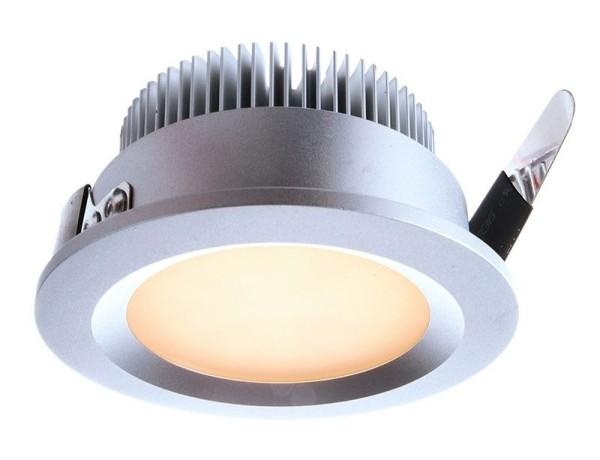 Deko-Light Deckeneinbauleuchte, Aluminium Druckguss, silberfarben, Warmweiß, 135°, 3W, 9-10V, 350mA