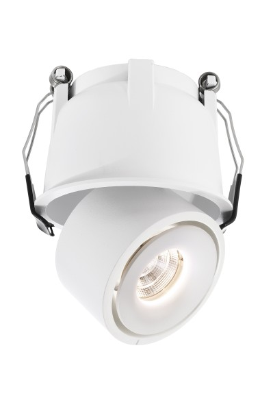 Deko-Light Deckeneinbauleuchte, Uni II Mini, Aluminium Druckguss, weiß, Warmweiß, 33°, 9W, 18-19V