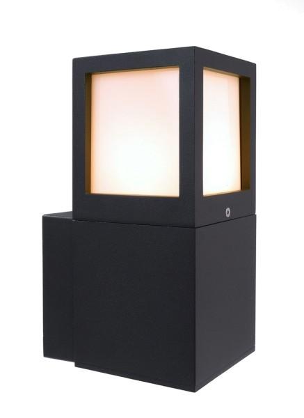 Deko-Light Wandaufbauleuchte, Facado A, Aluminium Druckguss, anthrazit, 20W, 230V, 243x110mm