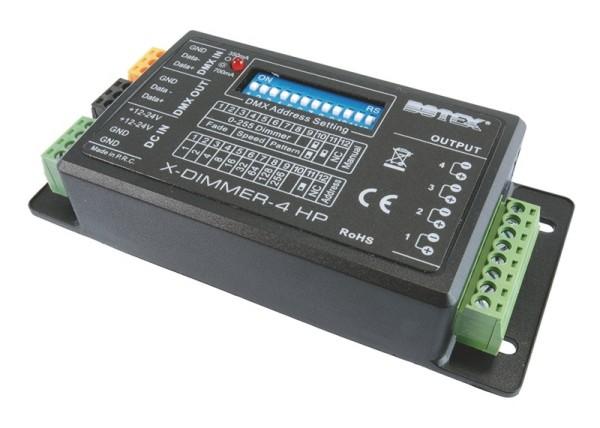 Botex Controller, X-Dimmer 4 HP (OUTPUT 350mA/700mA), dimmbar: DMX512, Eingangsspannung: 12-24V DC,