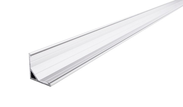Reprofil Profil, Eck-Profil AV-03-12, Aluminium, Weiß eloxiert, 3000mm
