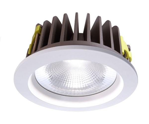 Deko-Light Deckeneinbauleuchte, COB 210, Aluminium, weiß, Neutralweiß, 60°, 37W, 35V, 1050mA