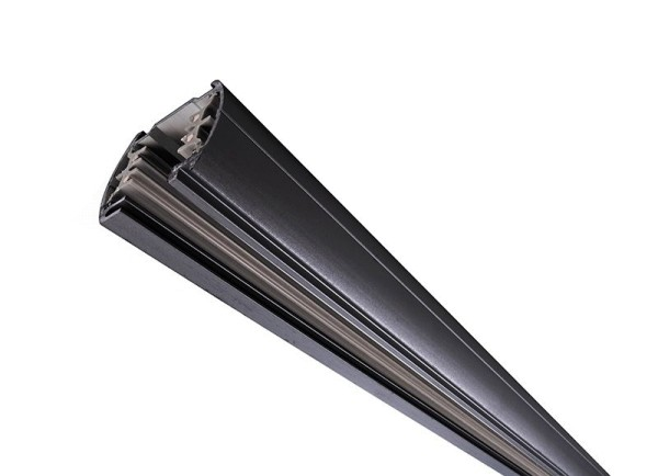 Ivela Schienensystem 3-Phasen 230V, Stromschiene rund, Aluminium, schwarz, 230V, 3000mm