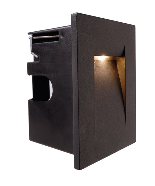 Deko-Light Wandeinbauleuchte, Yvette II A, Aluminium Druckguss, anthrazit, Warmweiß, 54°, 3W, 230V