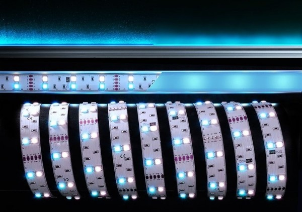 Deko-Light Flexibler LED Stripe, 5050-2x30-12V-RGB+6500K-3m, Kupfer, Weiß, RGB + Kaltweiß, 120°, 36W