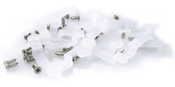 Deko-Light Zubehör, Befestigungsset 12 mm, 10 St., Silikon