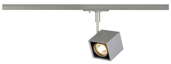 ALTRA DICE, Spot für Hochvolt-Stromschiene 1Phasen, QPAR51, eckig, silbergrau/schwarz, max. 50W