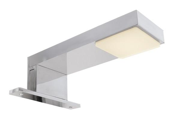 Deko-Light Möbelaufbauleuchte, Nunki, Kunststoff, silberfarben Chrom, Warmweiß, 180°, 2W, 230V