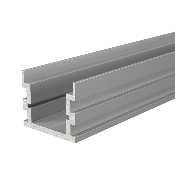 Reprofil, IP-Profil, U-hoch AU-05-15 für LED Stripes bis 16,3 mm, Silber-matt, 2000 mm