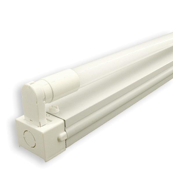 T8 LED Röhren Fassung, Wand- und Deckenleuchte, einflammig, weiß, für T8 1200mm LED Röhre