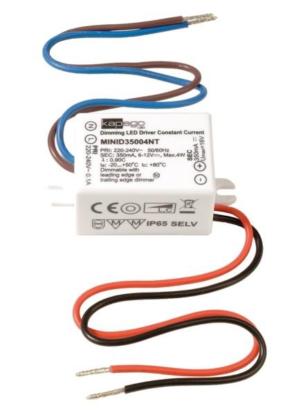 Deko-Light Netzgerät, MINI, D35004NT, Kunststoff, Weiß, 4W, 6-12V, 350mA, 53x27mm