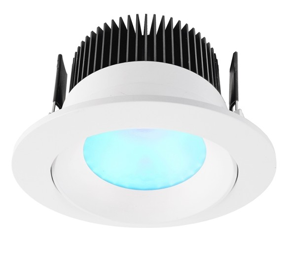Deko-Light Deckeneinbauleuchte, COB 94 RGBW, Aluminium Druckguss, weiß matt, RGB + Warmweiß, 60°