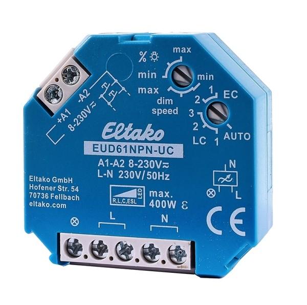 Controller, Eltako Dimmer Universal 400W EUD61NPN-UC, Blau, 400W, 230V, 45x45mm