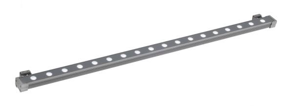 GALEN LED-PROFIL, Outdoor Fassadenleuchte, LED, 6500K, IP65, 1 m, silbergrau, 25W