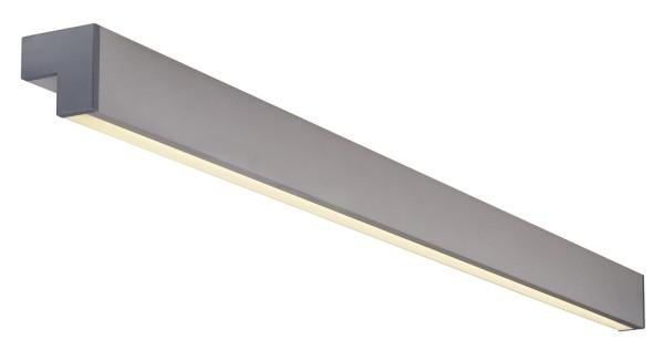 L-LINE 120, Wand- und Deckenleuchte, T16, IP43, silbergrau, L/B/H 120/7/7 cm, max. 28W