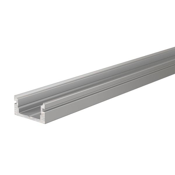 Reprofil, U-Profil flach AU-01-08 für LED Stripes bis 9,3 mm, Silber-matt, eloxiert, 2000 mm