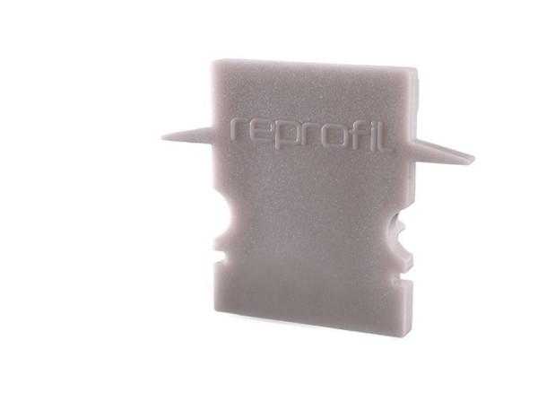 Reprofil Profil Zubehör, Endkappe H-ET-02-10 Set 2 Stk, Kunststoff, Grau, 25x6mm