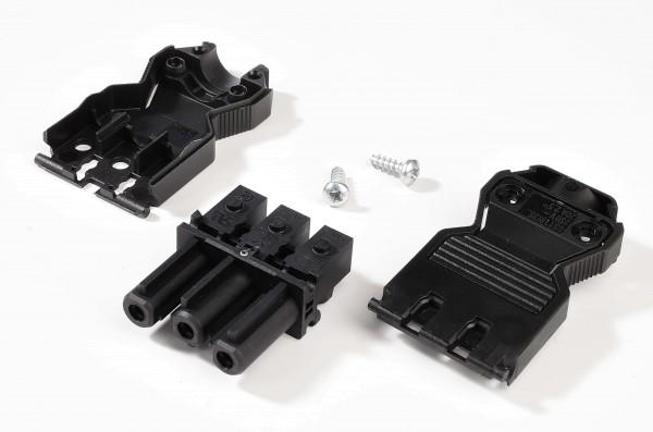 Zubehör, Wieland GST18i3 Stecker Verteilerblock, Kunststoff, Schwarz, 230V, 70x28mm