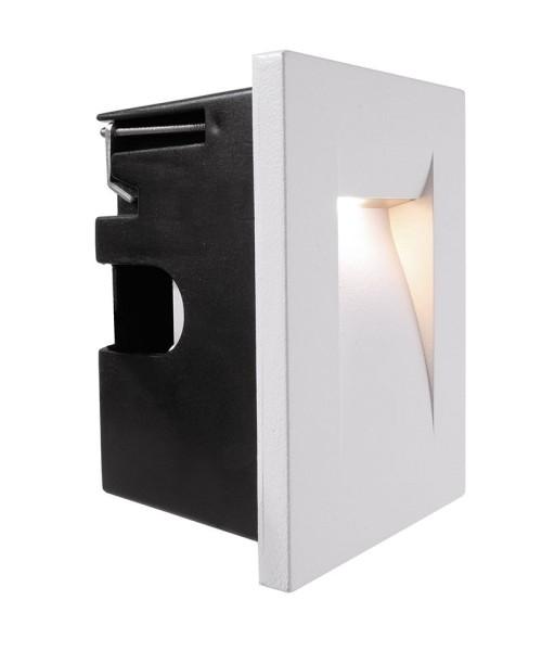 Deko-Light Wandeinbauleuchte, Yvette II W, Aluminium Druckguss, weiß, Warmweiß, 54°, 3W, 230V