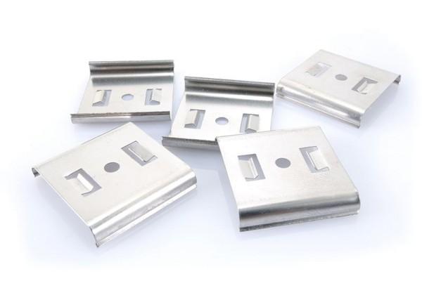 Deko-Light Zubehör, Befestigungsclips 5er Set für C01, Metall, Silber, 30x32mm
