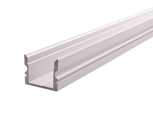 Reprofil Profil, U-Profil hoch AU-02-12, Aluminium, Weiß-matt, 2000mm