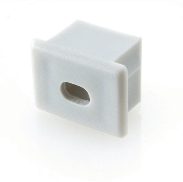 Endkappe PDS4 mit Kabelausgang, Grau