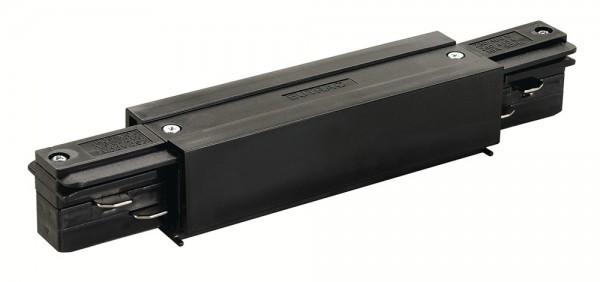 LÄNGSVERBINDER, für EUTRAC Hochvolt 3Phasen-Aufbauschiene, mit Einspeisemöglichkeit, schwarz