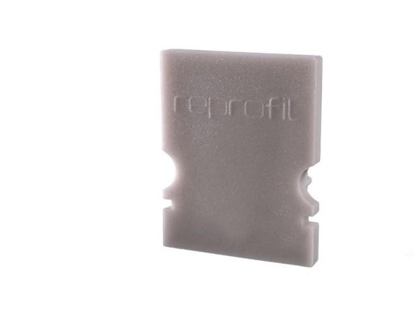 Reprofil Profil Zubehör, Endkappe H-AU-02-10 Set 2 Stk, Kunststoff, Grau, 16x6mm