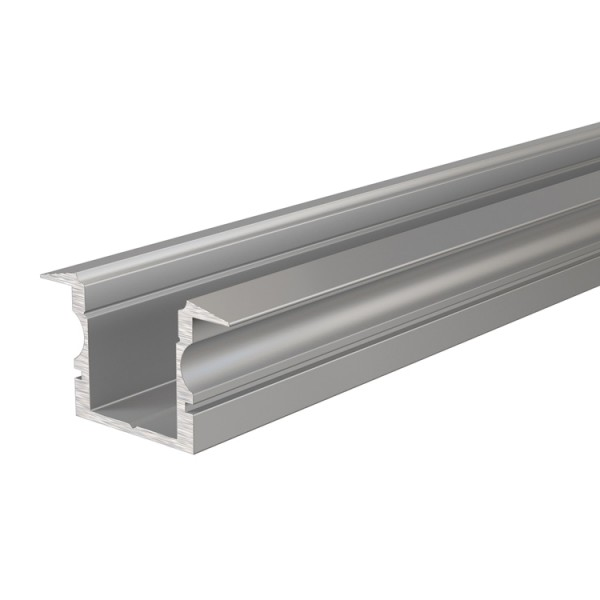 Reprofil, T-Profil hoch ET-02-10 für LED Stripes bis 11,3 mm, Silber-matt, eloxiert, 3000 mm