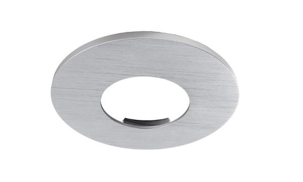 Deko-Light Zubehör, Abdeckung Silber gebürstet rund für COB 68 IP65 + Mizar II, Aluminium