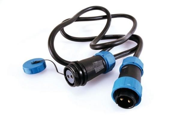 Deko-Light Kabelsystem, Weipu Verbindungskabel 2-polig, Kunststoff, 24V, 10000mm
