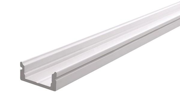 Reprofil Profil, U-Profil flach AU-01-10, Aluminium, Weiß-matt, 2000mm