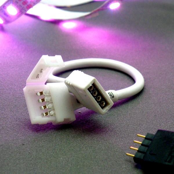 Flex-Verbinder/Einspeiser für RGB LED Strips 5050 10mm mit PIN