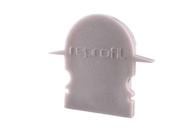 Reprofil Profil Zubehör, Endkappe R-ET-02-12 Set 2 Stk, Kunststoff, Grau, 27x6mm