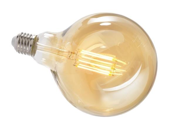 Deko-Light Leuchtmittel, Filament E27 G125 2200K, Glas, Amber, Warmweiß, 300°, 8W, 230V, 44mA, 173mm