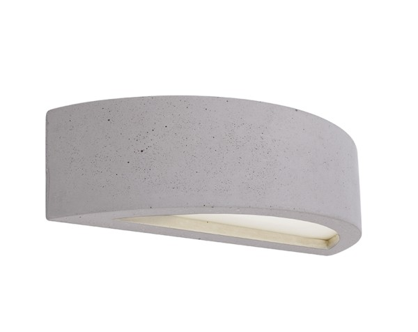 Deko-Light Wandaufbauleuchte, Sarin, Beton, grau, 25W, 230V, 300x100mm