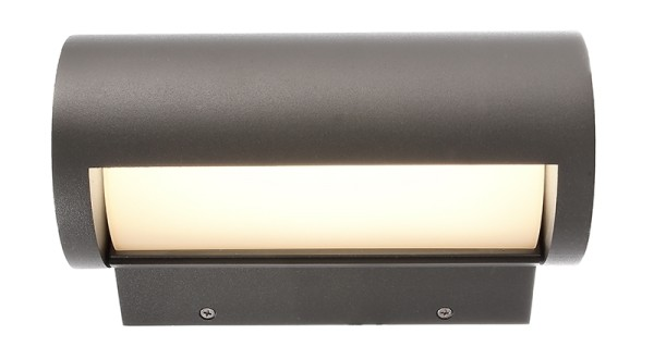 Deko-Light Wandaufbauleuchte, Segin, Aluminium Druckguss, Dunkelgrau, Warmweiß, 13W, 230V, 223x130mm
