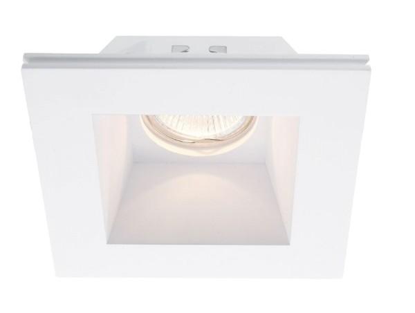 Deko-Light Deckeneinbauring, Gips, weiß, 50W, 12V, 120x120mm