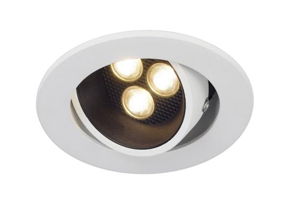 TRITON HORN 3 SET, Einbauleuchte, dreiflammig, LED, 3000K, rund, weiß, 12°