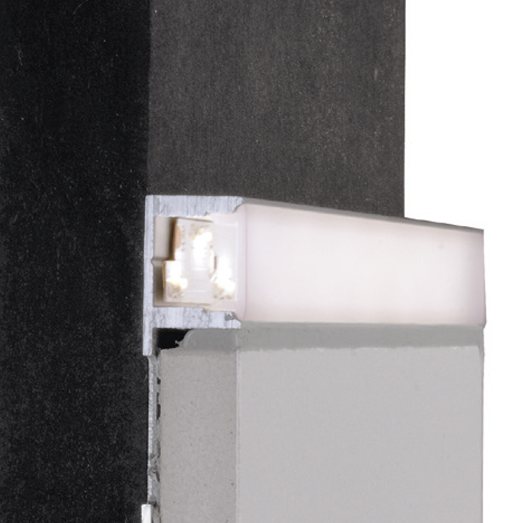 Reprofil Fliesen Profil El 01 08 Fur Led Stripes Bis 9 3 Mm Silber