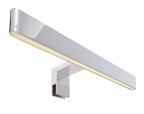 Deko-Light Möbelaufbauleuchte, Spiegel Line I, Aluminium, silberfarben Chrom, Warmweiß, 120°, 8W