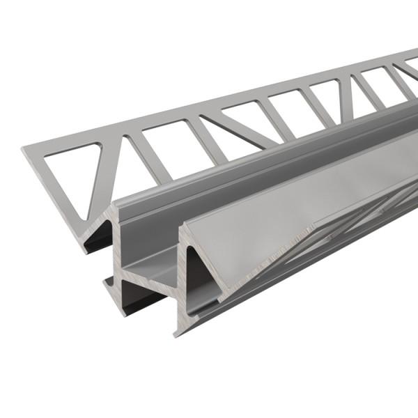 Reprofil, Fliesen-Profil Ecke innen EV-01-12 für LED Stripes bis 13,3 mm, Silber, eloxiert, 2500 mm