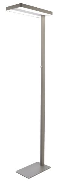 Deko-Light Stehleuchte, Office Two, Aluminium, silberfarben, Neutralweiß, 115° / 75°, 80W, 230V