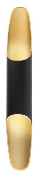 Deko-Light Wandaufbauleuchte, Apodis 500, Aluminium, goldfarben, Warmweiß, 40°, 9W, 230V, 76x61mm