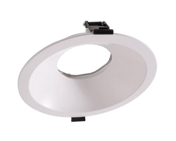 Deko-Light Zubehör, 170 mm Einbauring für Modular Sytem COB, Aluminium, Weiß mattiert, 6°