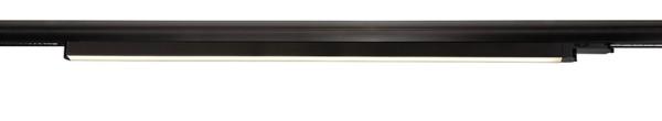 Deko-Light Schienensystem 3-Phasen 230V, Linear 60, Aluminium, schwarz mattiert, Warmweiß, 110°, 19W