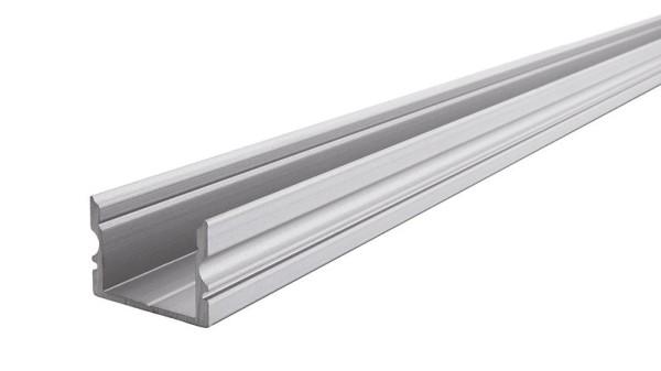 Reprofil Profil, U-Profil hoch AU-02-15, Aluminium, Silber-matt eloxiert, 1000mm