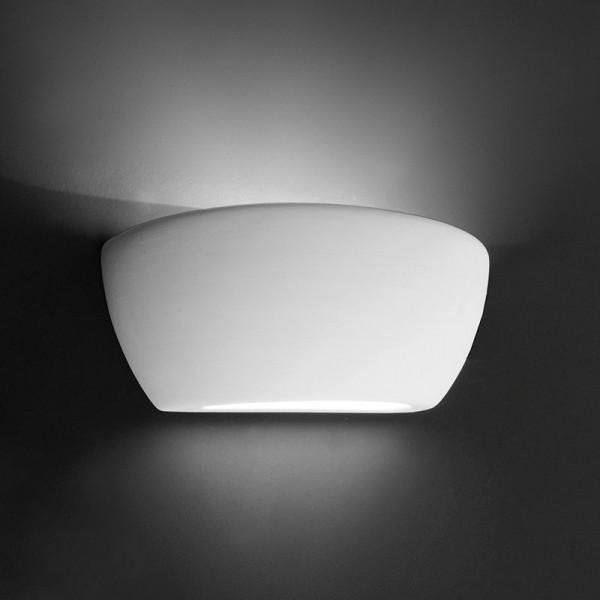 Deko-Light Wandaufbauleuchte, Netito, Gips, weiß überstreichbar, 80W, 230V, 245x123mm